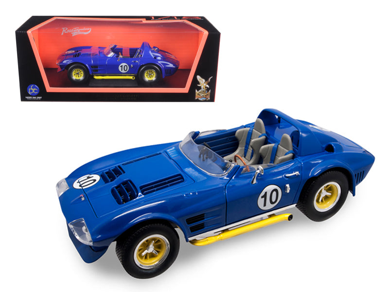 1964 Chevrolet Corvette Grand Sport Roadster Blue 1:18 Diecast Model