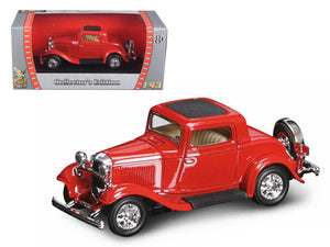 1932 Ford 3 Window Coupe Red 1:43 Diecast Model