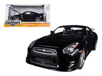 2009 Nissan GT-R R35 Black 1:24 Diecast Model