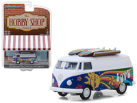 1971 Volkswagen Type 2 Panel Van with Surfboards 1:64 Diecast Model