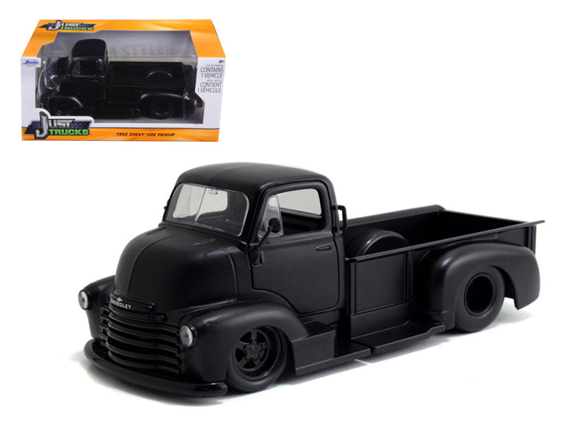 1952 Chevrolet COE Pickup Truck Matt Black 1:24 Diecast Model