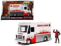 Deadpool Taco Truck with Deadpool Diecast Figure Hollywood Rides Series