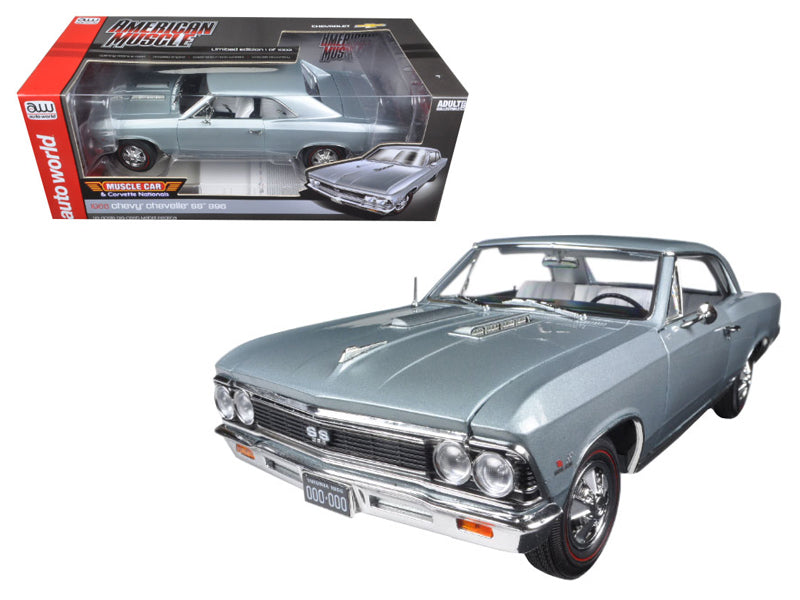 1966 Chevrolet Chevelle SS Silver/Chateau Slate 1:18 Diecast Model