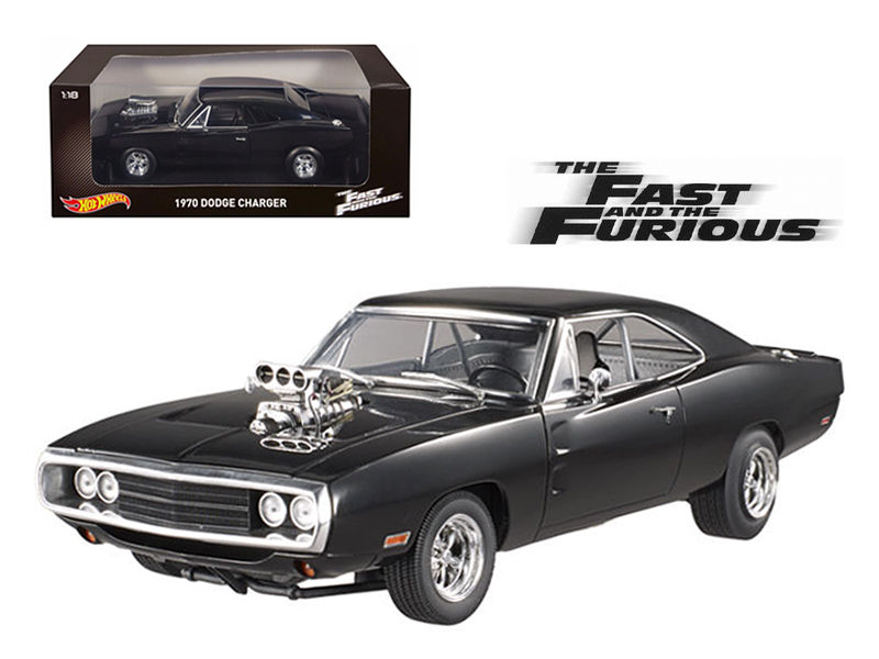 1970 Dodge Charger Black The Fast & Furious 1:18 Diecast Model