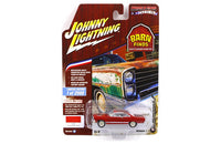 1966 Ford Fairlane GT Red 1:64 Diecast Model - Johnny Lightning Barn Finds - JLCP7079