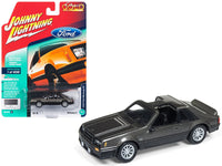 1982 Ford Mustang GT 5.0 Gray Metallic 1:64 Model Limited Edition to 4,540 pieces Worldwide - Johnny Lightning JLSP013-24B
