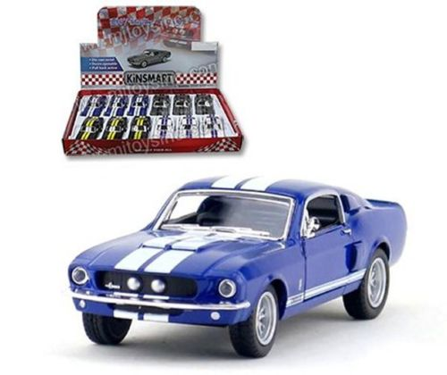 "1967 Shelby GT-500 Blue With Strips 4.5"" Diecast Model"