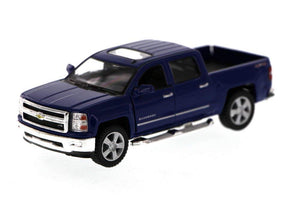 "2014 Chevrolet Silverado Blue 5.5"" Diecast Model"