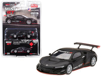 Honda NSX GT3 Presentation Matt Black Limited Edition to 3,600 pieces Worldwide 1:64 Diecast Model Car - True Scale Miniatures - MGT00025