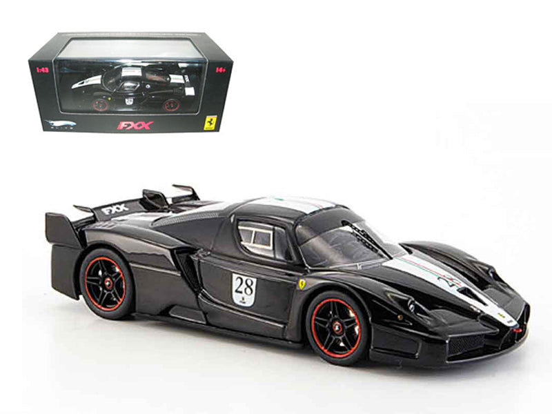 Ferrari Enzo FXX Diecast Car Model Black #28 Elite Edition 1:43 Model