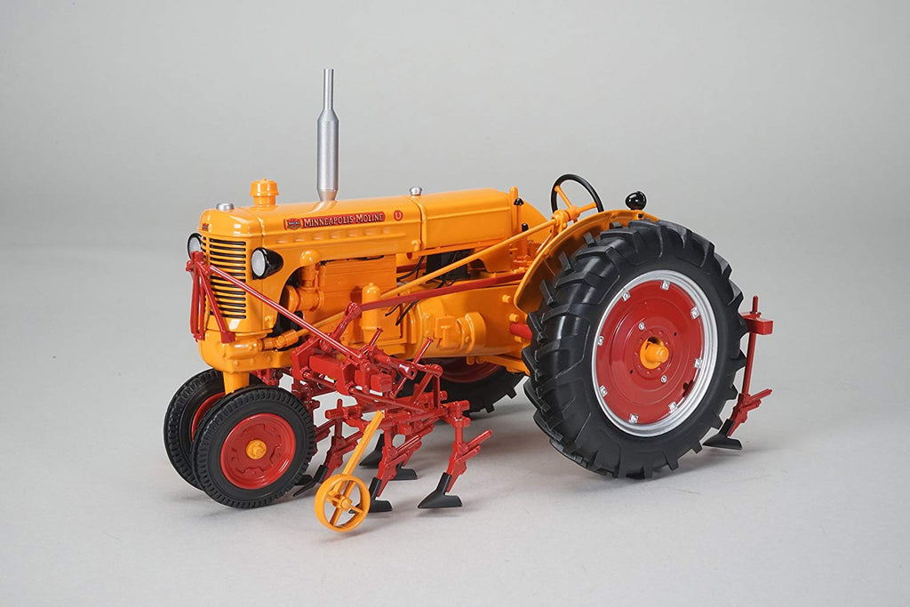 Minneapolis Moline U Tractor With Cultivator 1:16 Diecast Model