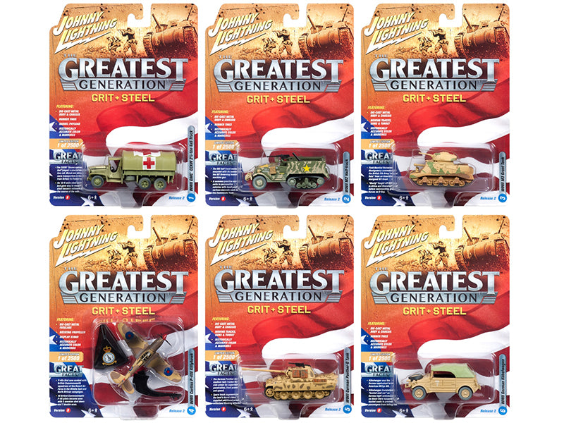 The Greatest Generation Military Release 2-B Six Piece Set