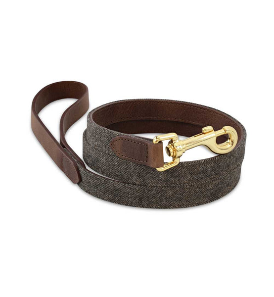 Signature Brown Tweed Dog Leash