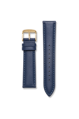 Calf Leather Blue / Gold Strap