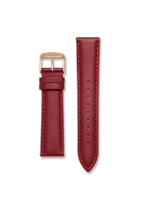 Calf Leather Red / Rose Gold Strap