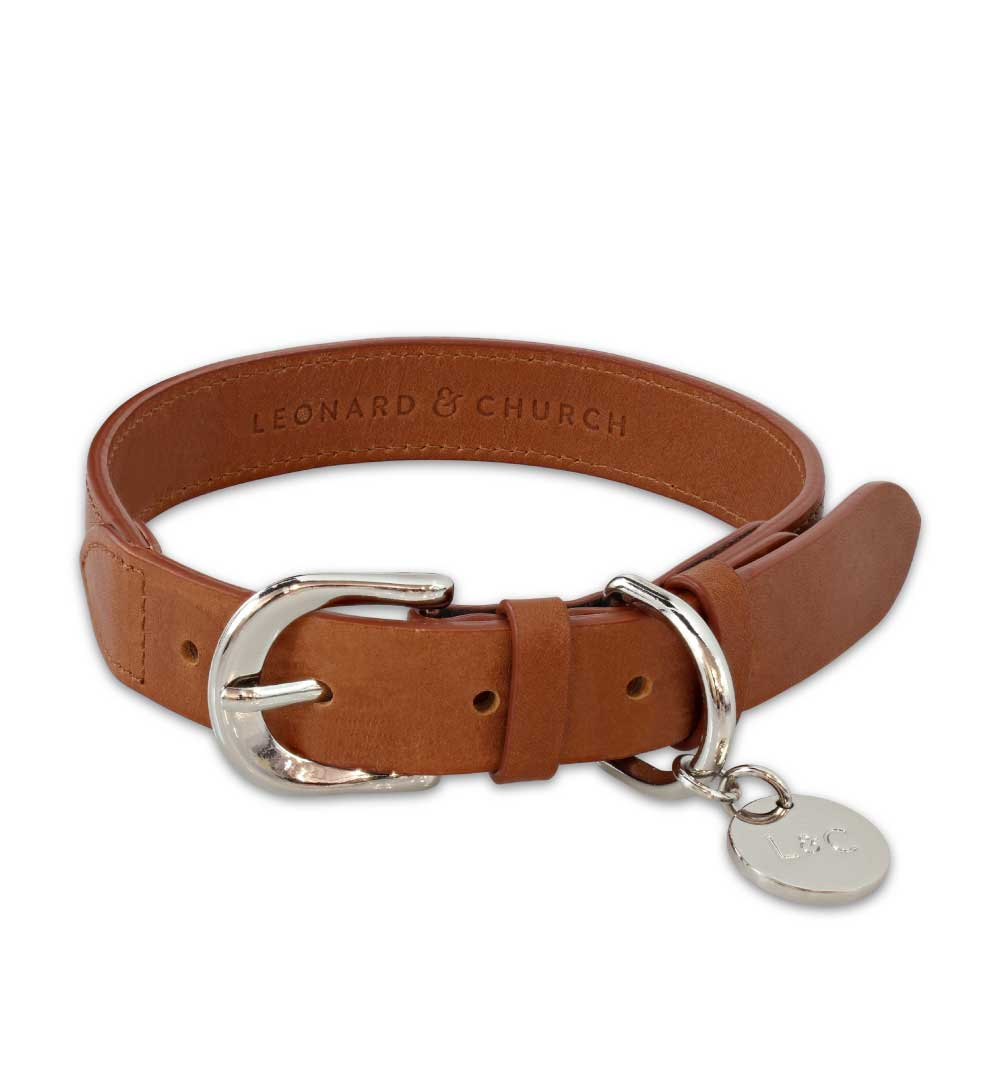 Signature Tan Dog Collar