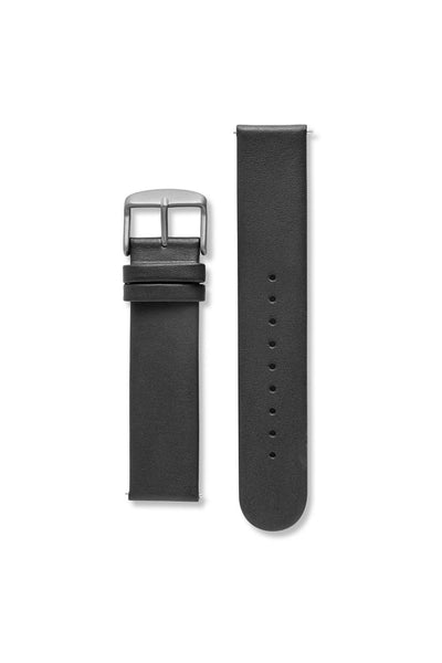 Genuine Leather Non-Stitch Black / Black Strap