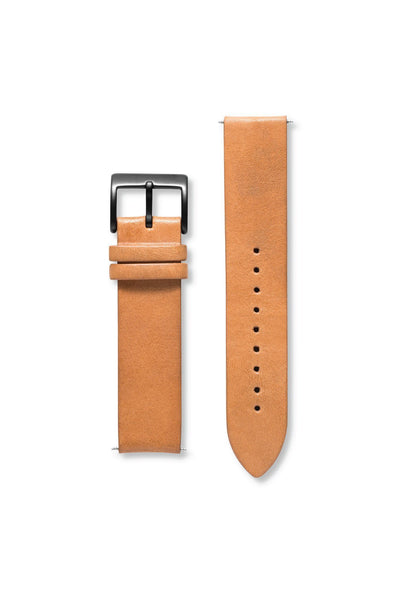 Leather Sand / Gunmetal Strap