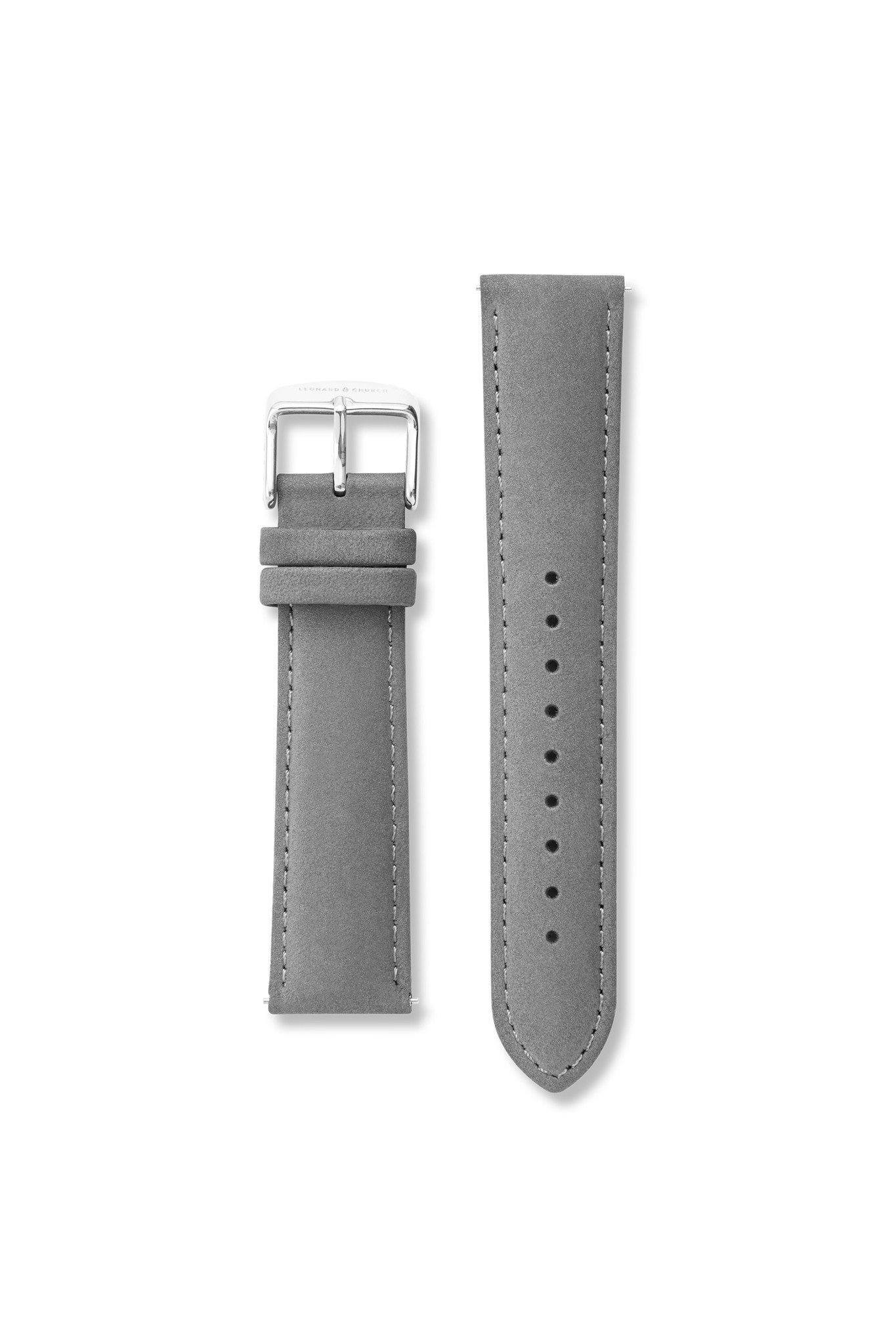 Strap - Suede Leather Slate / Silver Strap