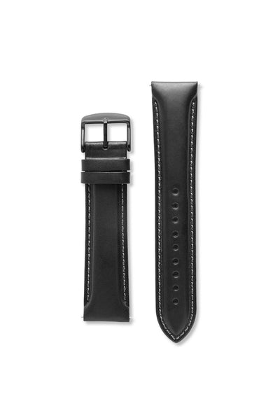 XL Natural Oil Leather Black Strap