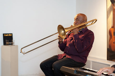 Dick Griffin Performing at Jazz in Art Exhibit