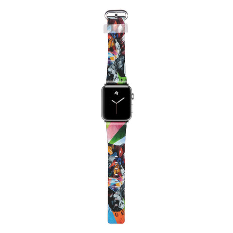 Rise Art Design Rainbow Kissing Couple Apple Watch Band