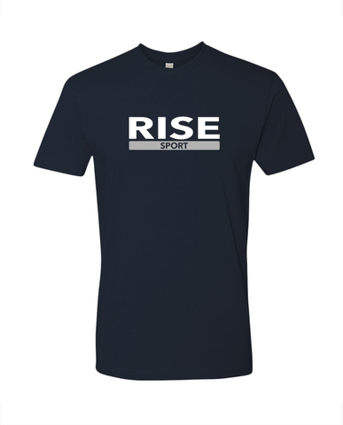 Rise Sport Signature T-shirt Tee Navy Gray