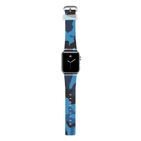 RiseAD Blue Camo Apple Watch Band