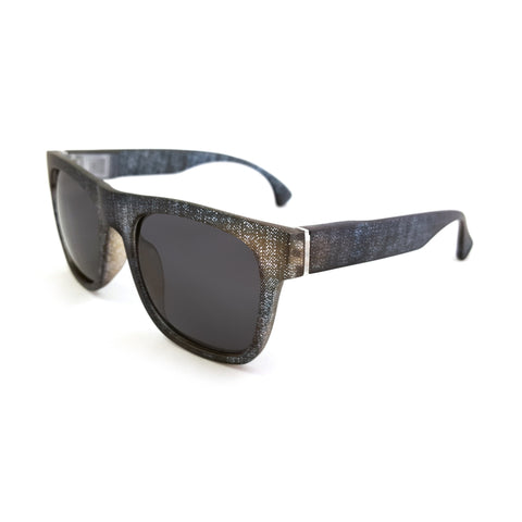 Rise Sport Black Denim TiHiKi Wayfarer Interchangeable Sunglasses