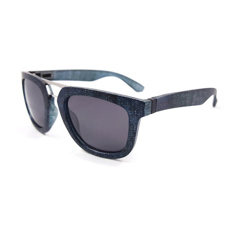 Rise Sport Chambray Denim TiHiKi Aviator Interchangeable Sunglasses