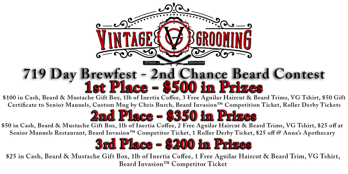 719 Day Brewfest Beard Contest - $1,000+ in Prizes