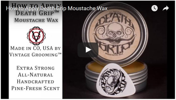 How to Apply Death Grip™ Moustache Wax Video Tutorial