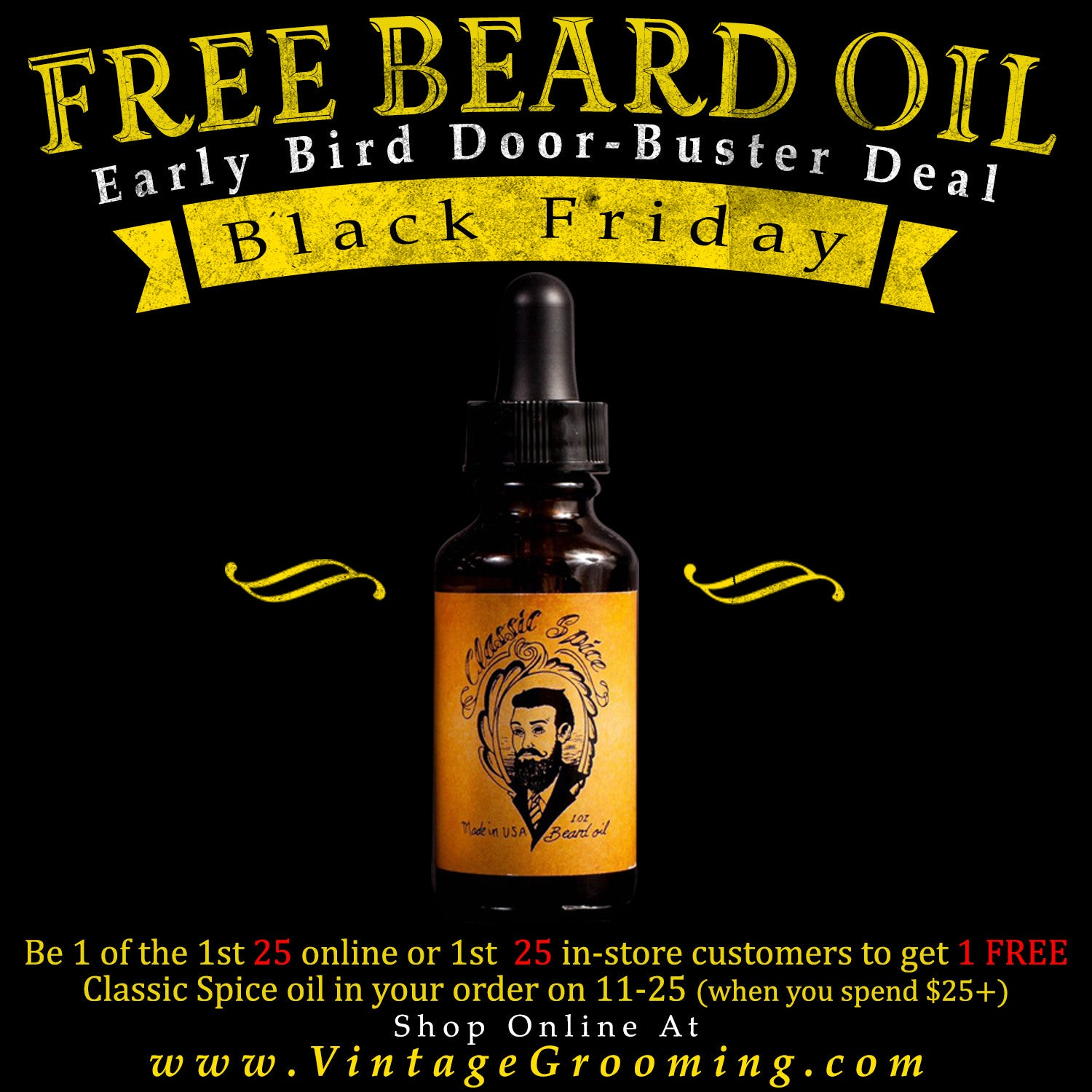 FREE Beard Oil Giveaway!