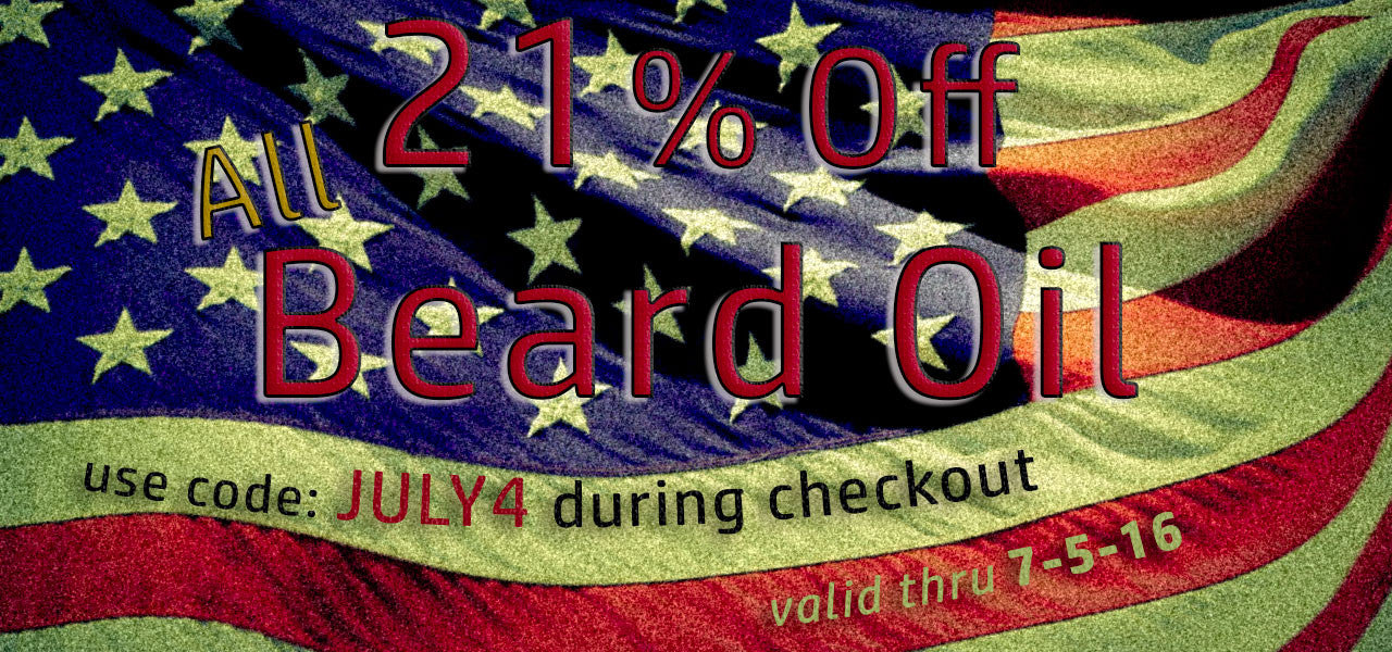 July 4th Beard Oil Sale!
