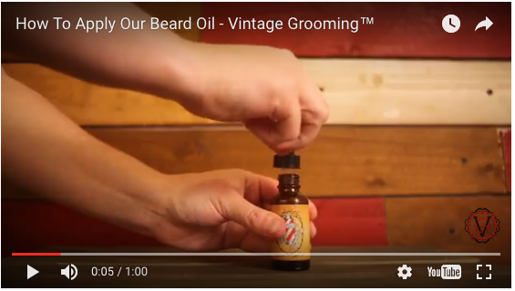 How to Apply Beard Oil - Short Video Tutorial
