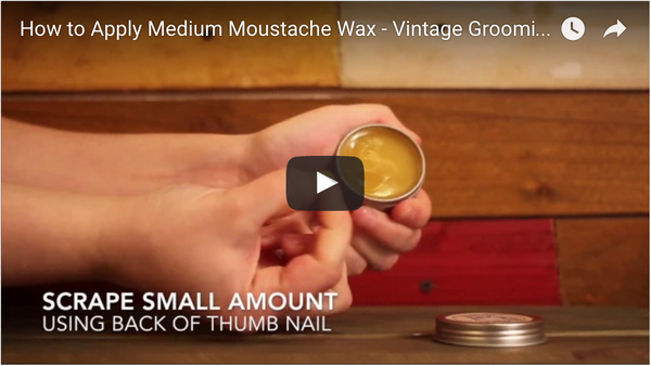 How to Apply Medium Moustache Wax