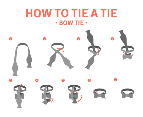 How to Tie a Bow Tie, Bow Tie, Windsor Tie, Vintage Grooming Company