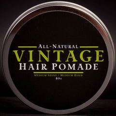 Colorado Springs, Vintage Beard Company, Hair Pomade, All Natural, Hair Company, Mens Grooming, Mens Hair Company, Hair Styling, Denver, Colorado, Veteran Owned