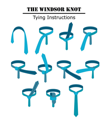 Regular Tie, Windsor Knot, how to, Vintage Grooming Company