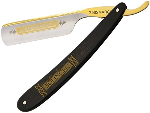 DOVO Bizmark Straight Razor with Ebony Wood Handle 6/8 Inch Solingen, 10 g.