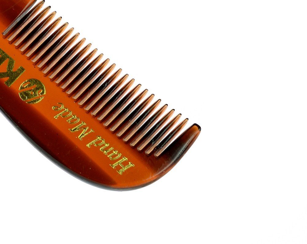 Kent 81T- Men's Handmade Beard / Moustache Comb, X-Small