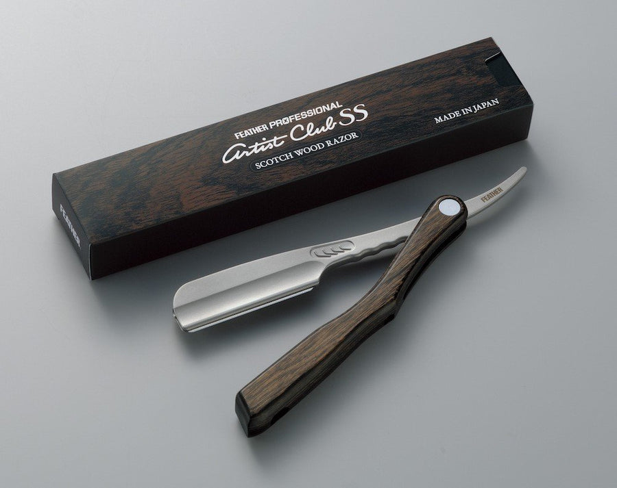 Artist Club SS Scotch Wood Folding Straight Razor