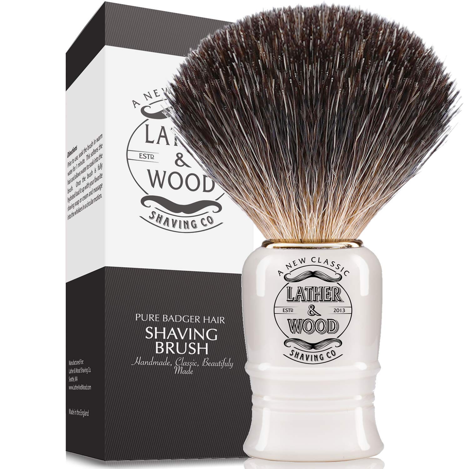 Pure Badger Shaving Brush - Handmade in England
