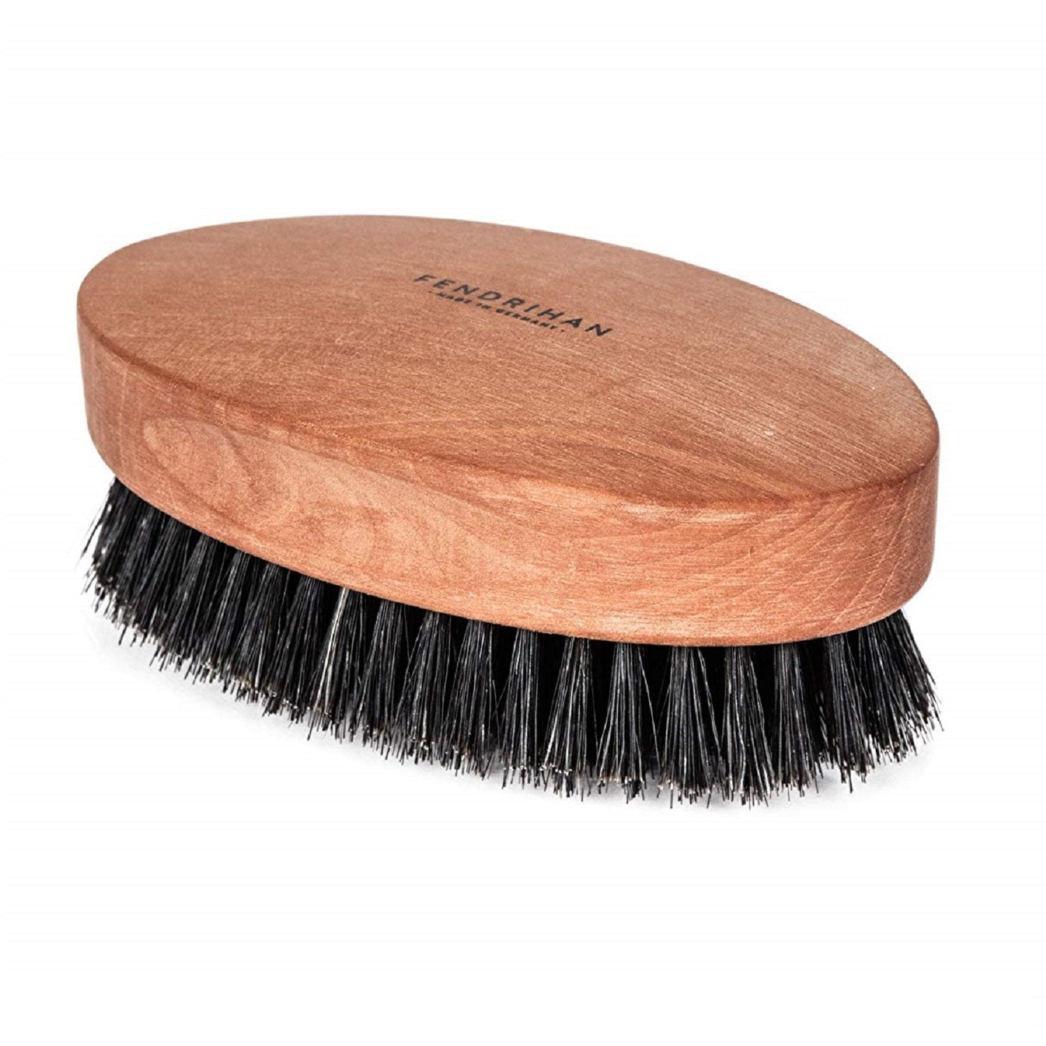 Soft Boar Bristle and Pear Wood Military Hair Brush, Made in Germany