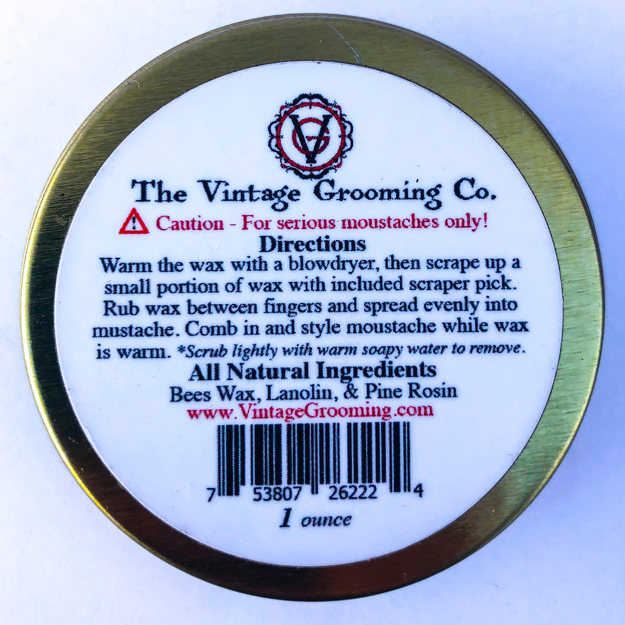 Olde Country Moustache Wax - All Natural (1 oz)