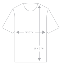 Design Ministry T Shirt Size Guide. NZ Made