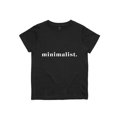 Mini Minimalist Black Tee