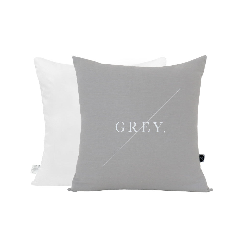 Grey Text Cushion
