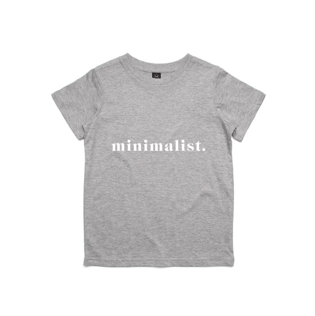 Mini Minimalist Grey Tee
