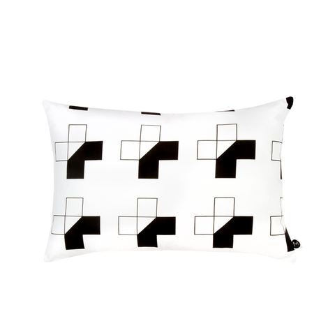 Design Ministry Black and White Half Cross Pillowcases - New Zealand Made